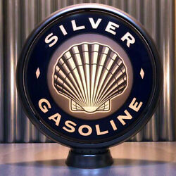 Silver Shell Gasoline - 15 Gas Globe Lenses - Made By Pogo's Garage