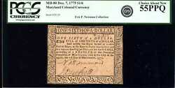 Md-80 Dec. 7 1775 1/6 Maryland Colonial Currency 55ppq Pcgs Currency 80589770