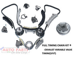 Timing Chain Kit+1vvt Cam Exhaust Gear Fit Chevrolet Cadillac Gmc 07-up 3.0 3.6l