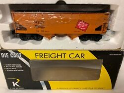 ✅k-line By Lionel Die Cast Milwaukee Road 2 Bay Hopper And Real Coal Load