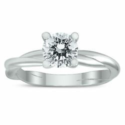 1 Carat Ags Certified Diamond Solitaire Braided Twist Ring In 14k White Gold