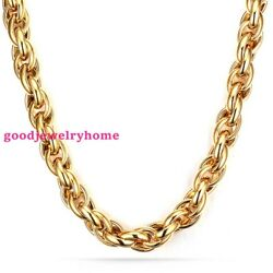New Fashion Mens Boys 316l Stainless Steel Rope Chain Necklace Jewelry