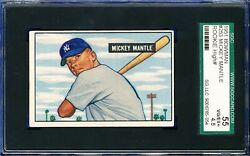1951 BOWMAN #253 MICKEY MANTLE ROOKIE HALL OF FAME 55 SGC 4.5