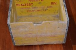 Sealtest Milk Crate Box Vintage 1964 Wooden National Dairy Corp Phila Pa Miller