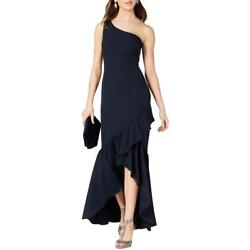 Vince Camuto Womens Purple Ruffled One Shoulder Evening Dress Gown 6 BHFO 1350 $25.99