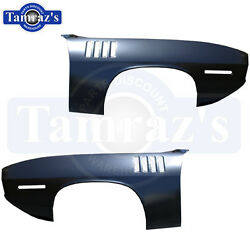 1971 Cuda Front Fender With Gill Slots - Pair Lh And Rh Goodmark New