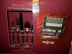 Wallace Stainless Steel 18/10 Flatware Camden Service For 12 New In Box
