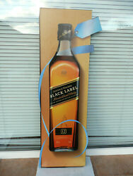 Johnnie Walker Black Label Plastic Sign Large Whiskey Used 955mm Scratches