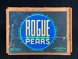 Produce Fruit Crate  Rogue Pears Medford, Oregon Vintage Wooden