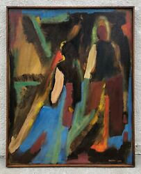 Vintage Artist Signed And039barbara Cookand039 - Large Original Oil Painting On Canvas