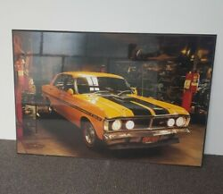 🔶️RARE RETRO VINTAGE FORD FALCON XY GT - 351 POSTER BOARD # 1 of 3