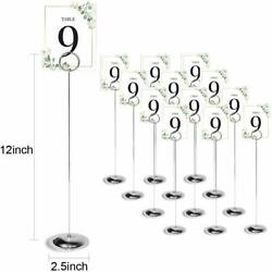 Hohiya 12 Inch Table Number Holders Stands Place Card Wedding Party Memo Sign Ph