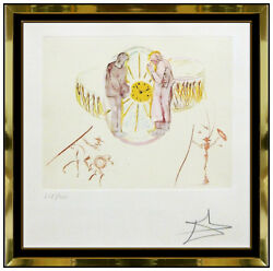 Salvador Dali Ones Identity Color Etching Hand Signed Clock Watch Surreal Art