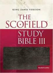 The Scofieldrg Study Bible King James Version, Burgundy Bonded Leather New-,