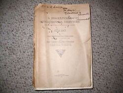 A Biographical Congressional Directory 1774-1911 . Continental Cong Americana