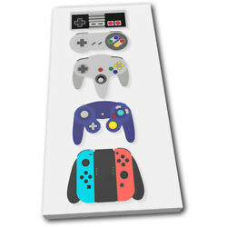 Retro Gaming Arcade Console Gaming Single Canvas Wall Art Picture Print
