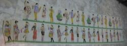Old Large 44 Crepe Paper Decoration International Ladies In Costume Flapper +