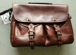 TUSTING messenger leather briefcase $200.00