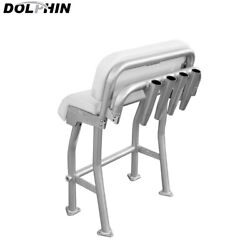 Dolphin Centre Console Pro2 T Top Leaning Post Boat Seat White Cushion