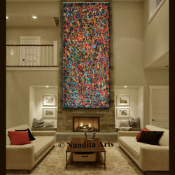 Oil Painting Abstract Wall Art Original Jackson Pollock Style 72andrdquo By Nandita