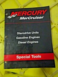 90-806737-2 Mercury Mercruiser Sterndr Gas And Diesel Engines Special Tools Manual