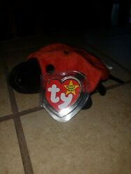 Retired Very Rare Ty Beanie Baby Lucky Ladybug W/ 8 Errors And 10 Spots