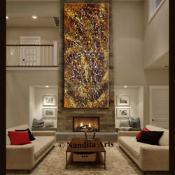 Jackson Pollock Style Abstract Art Original Painting On Canvas Made2ordernandita