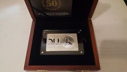 2017 South Africa 3 Oz Silver 50th Anniv Of The Krugerrand Coin And Bar Set In Box