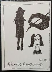 Charles Blackman The Artistand039s Hand Original Signed Ink On Paper 30cm X 21cm