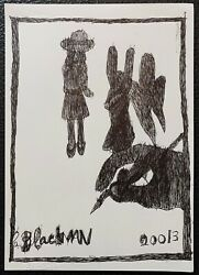 Charles Blackman Hand With Figures Original Signed Ink On Paper 30cm X 21cm