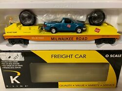 ✅k-line By Lionel Milwaukee Road Operating Searchlight Car And Truck Mow Crane