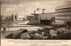 View Hall of Science to Electrical Group 1933 Chicago World's Fair Postcard C02