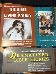 The Bible In Living Sound New 450 Stories Casette Tape Vintage Usa Case Rare Set