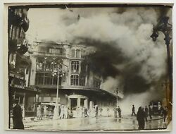Marseille Fire Of New Gallery 1938 - 4 Prints Film Cameras Vintage