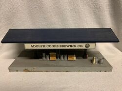 Mth Railking Coors Brewing Freight Platform Accessory O Gauge Beer Brewery Light