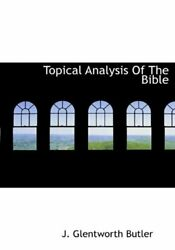 Topical Analysis Of The Bible By Butler New 9781117942087 Fast Free Shipping-,