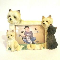 Resin Terrier 3D Picture Frame for a 4quot; x 5quot; picture