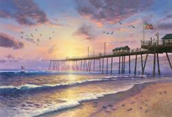 Thomas Kinkade Footprints in the Sand Artist's Proof Paper 27x18