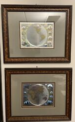 Old World Eastern And Western Hemisphere Foil Maps - Windsor Art Products Inc.