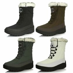 Dailyshoes Womanand039s Ankle High Lace Up Warm Water Resistant Eskimo Snow Boots