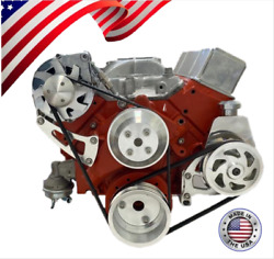 Small Block Chevy Serpentine Pulley Conversion Kit Alt Ps Long Wp Sbc Lwp 5