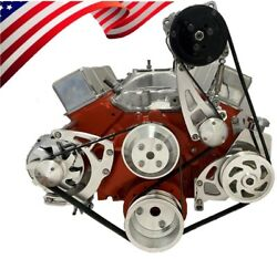 Small Block Chevy Serpentine Pulley Conversion Kit A/c Alt Ps Long Wp Sbc Lwp 1