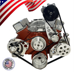Sbc Serpentine Pulley Conversion Kit A/c Alt Ps Chevy Small Block Sbc Lwp Wp 2
