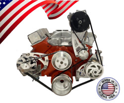 Small Block Chevy Serpentine Pulley Conversion Kit A/c Alt Ps Midmount Sbc Lwp 3