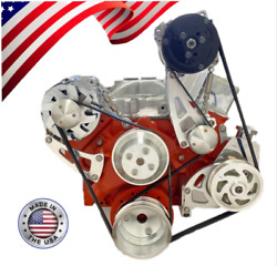 Sbc Lwp Serpentine Pulley Conversion Kit A/c Alt Ps Midmount Small Block Chevy 5