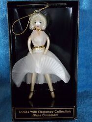 New Ladies With Elegance Collection Glass Christmas Ornament Marilyn Monroe