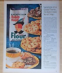 1963 Magazine Ad For Robin Hood Flour - Triplet Cookies Recipe, 3 Cookies From 1