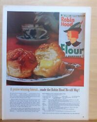 1963 Magazine Ad For Robin Hood Flour - Butterscotch Pecan Biscuits Recipe