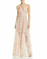 New Aqua Embellished Illusion Gown Prom Evening Women#x27;s Dress Size 4 Pink NWT $92.65