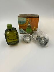 Vintage 70s Avon Whale Oil Lantern Mens Oland After Shave Decanter And Box